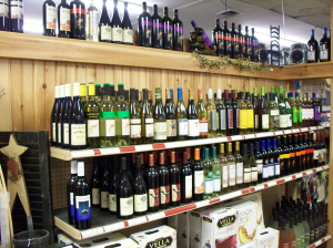 wine at country goods and groceries