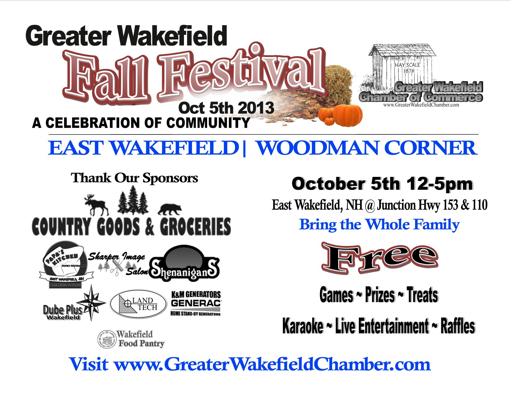 FALL FESTIVAL EVENTS LISTING Poster