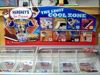 Hershey's Ice Cream always available at Country Goods and Groceries of East Wakefield NH
