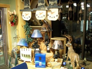 Bear Lamps Wind Chimes Deer and Great Gifts for the Cabin or Home at Country Goods and Groceries of East Wakefield New Hampshire