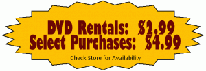 Rent or Purchase DVD Movies at Country Goods & Groceries