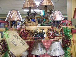Majestic Deer Lamps for hunters and nature lovers at East Wakefield Country Goods and Groceries in New Hampshire