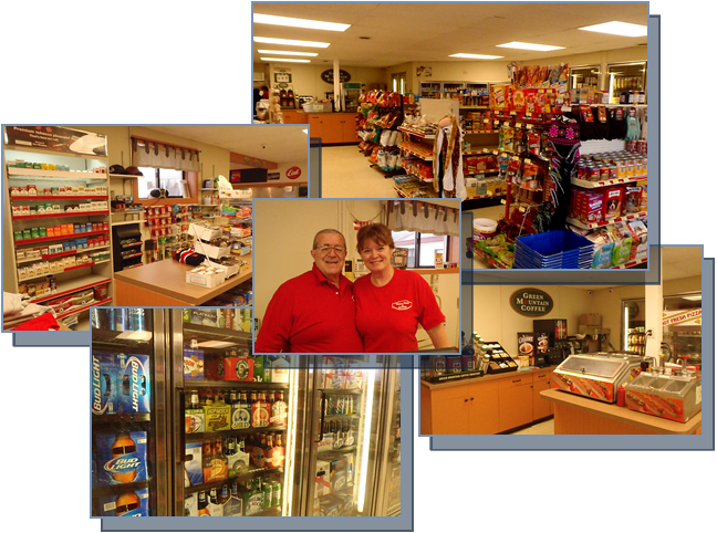 All Your Favorite Beer Cafe Cigarettes and Coffee at Country Goods and Groceries Shapleigh Gas Station